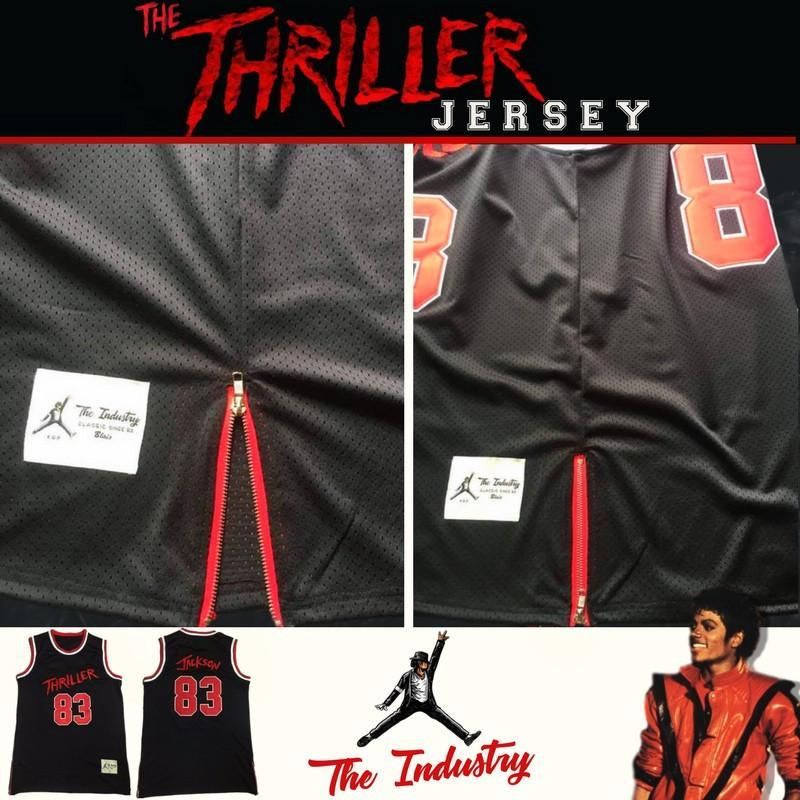 5b9c3b6a207 Limited Edition - Michael Jackson Thriller Basketball Jersey - by The  Industry   54.99 . The