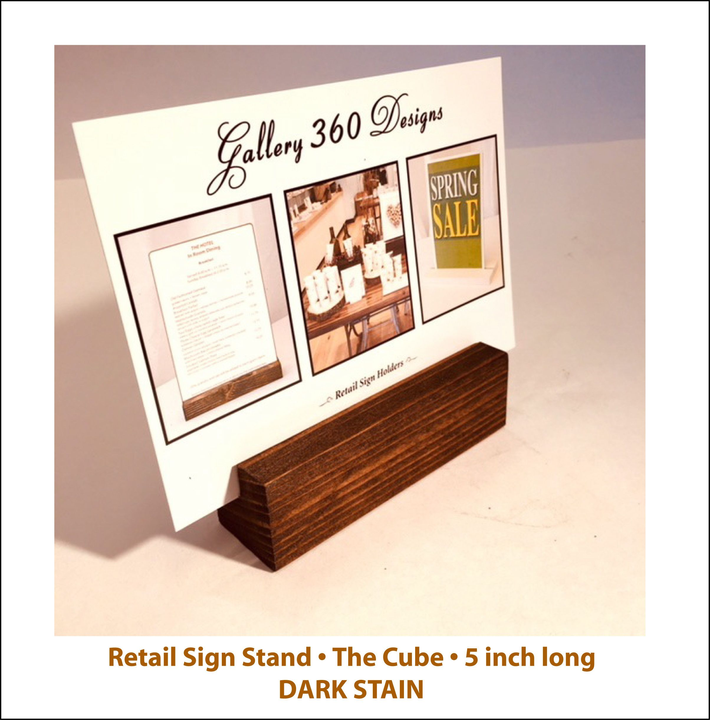 Universal Sign Stand Large Sign Holder Rustic Wood Stand