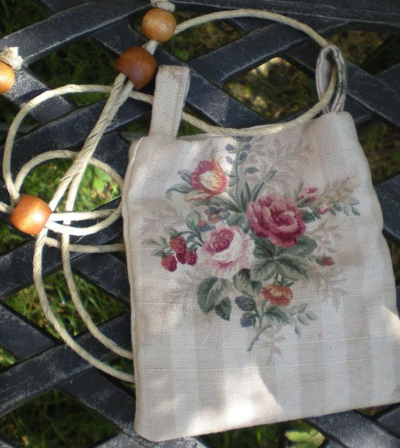 pretty little cotton bag with old fashioned roses by elainenthesun, $10.00