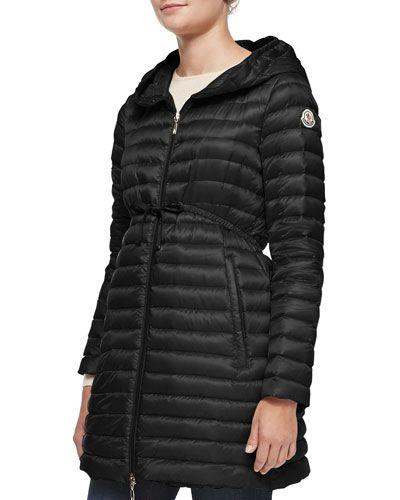 17024a73e Barbel Hooded Down-Fill Knee-Length Jacket Black in 2019 | Dog ...