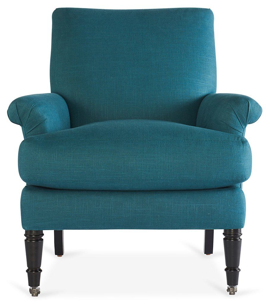 Avery rollarm accent chair teal accent chairs chairs