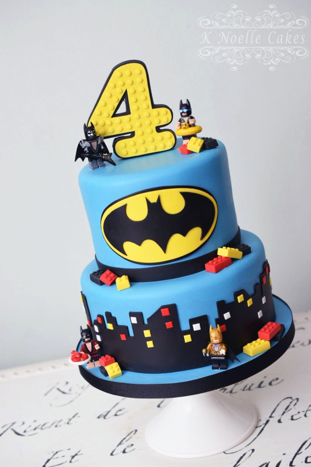 Batman Lego Theme Cake By K Noelle Cakes Lego Batman Birthday