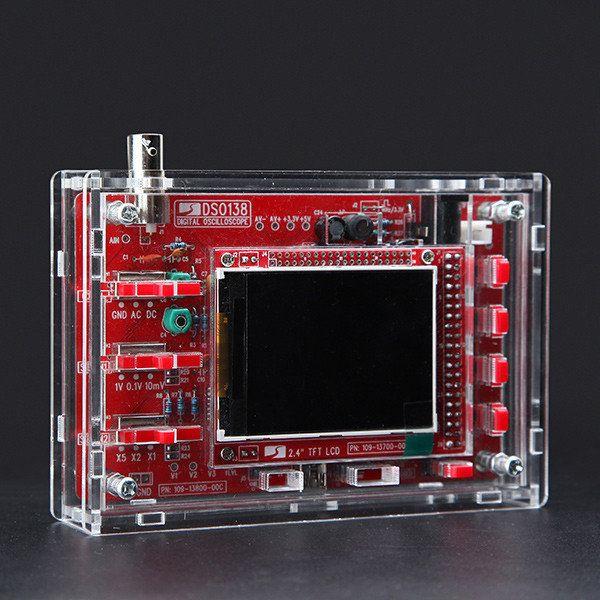 DIY Digital SMD kit osciloscópio soldadas 13803k versão com caixa DSO138 tecnologia jye orignal