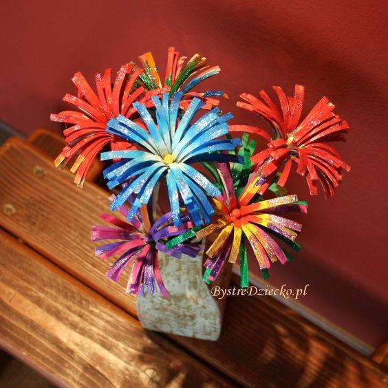 Urodzinowy Bukiet Pieknych Kwiatow Z Rolek Crafts Kids Art Projects Diy And Crafts