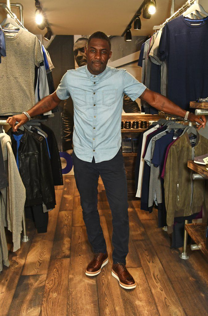 6 Photos of Idris Elba That Will Make You Wish You Were a Short-Sleeved Denim Shirt
