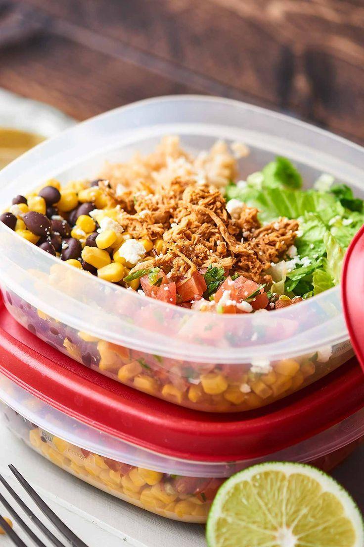 Chicken Burrito Bowl #crockpotmealprep