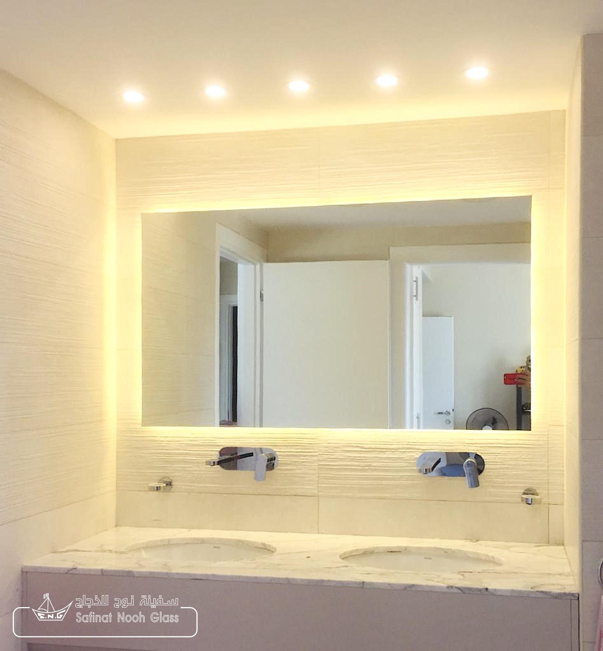 Led Back Light Mirror For Home Decor Ideas Custom Mirrors Mirror Bathroom Mirror