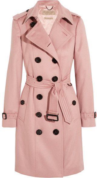 Burberry The Sandringham Cashmere Trench Coat Blush