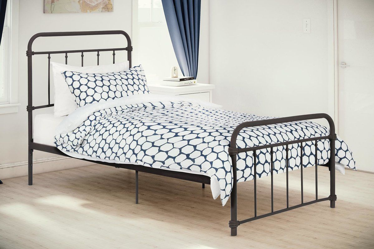 Matheney Platform Bed in 2019 Bed, Metal beds, Bed sizes