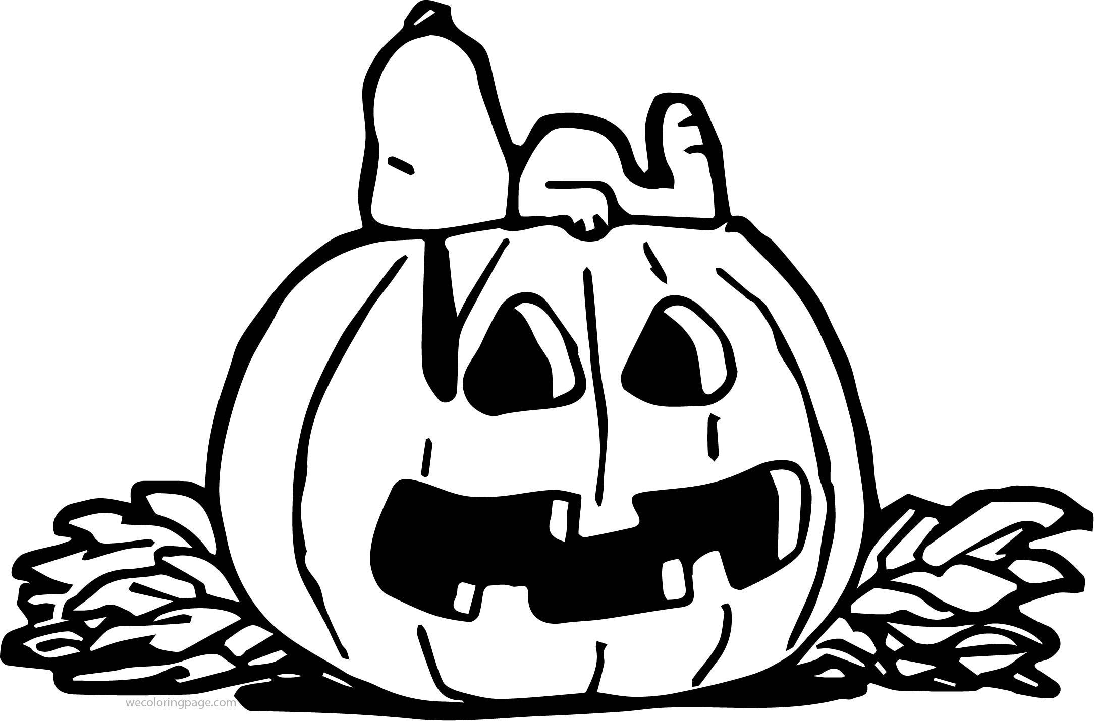 Cool halloween snoopy pumpkin coloring page tattoos snoopy