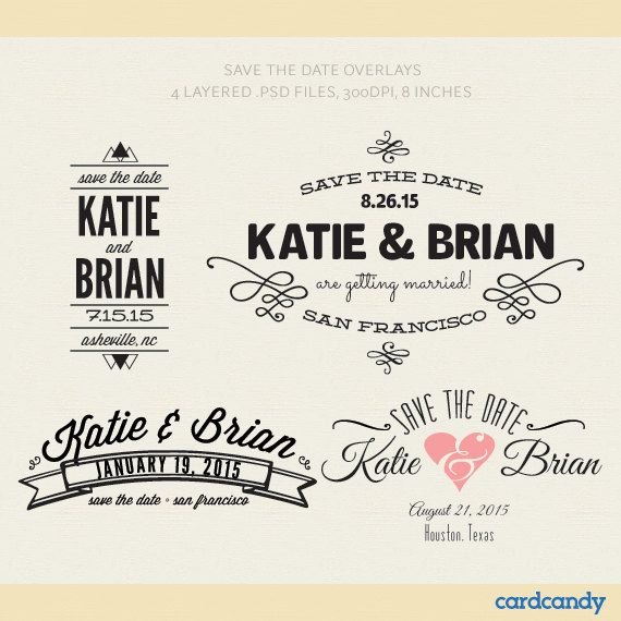 Digital Save The Date Card Overlays DIY Save The Date Photographer - Wedding save the date templates free download