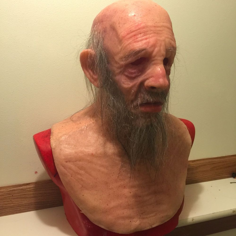 Realistic silicone mask old man halloween like spfx cfx or ...