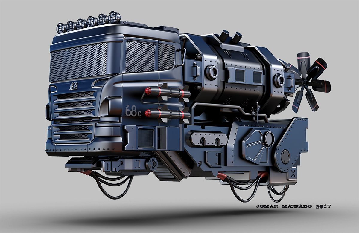 HOVER MINI TRUCK by Jomar Machado Transport 3D