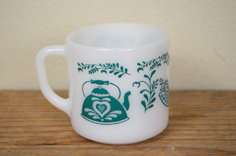 glass Vintage mug federal