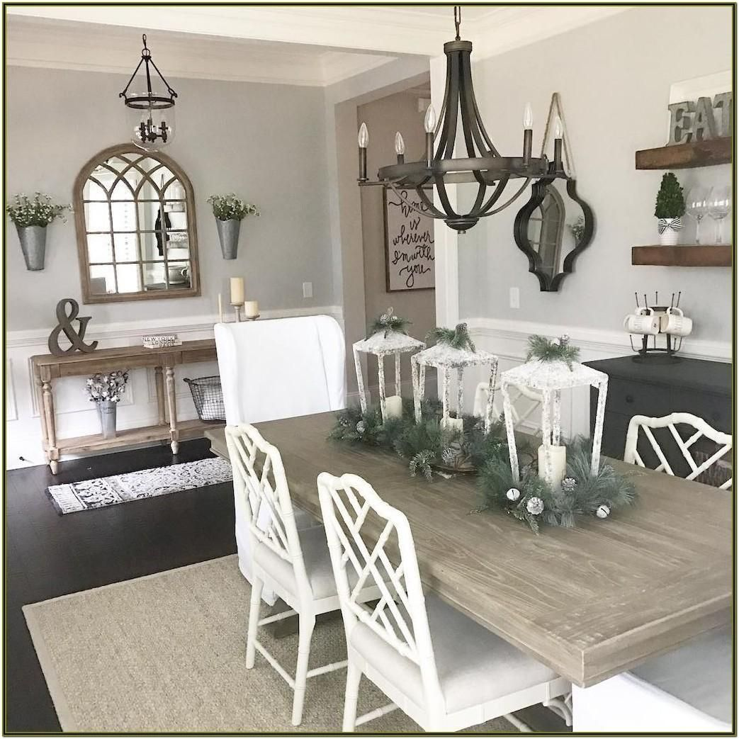 Dining And Living Room Wall Decor Ideas In 2020 Farmhouse Dining Rooms Decor Modern Farmhouse Dining Room Modern Farmhouse Dining
