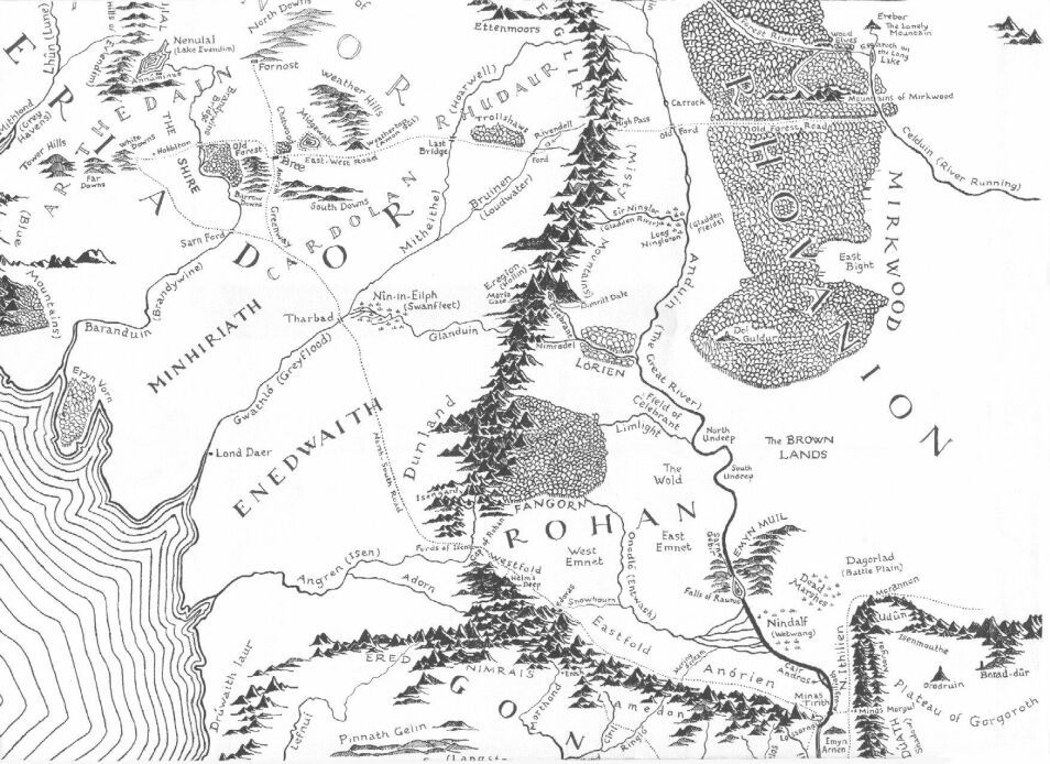 Coloring Books Map Of Middle Earth