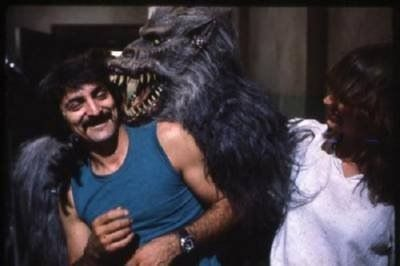 """Tom and his amazing creature creation """"Fluffy"""" from the 1982 film """"Creepshow"""""""
