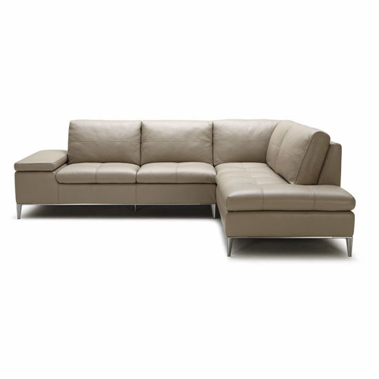Perfect Colton Sectional With Chaise In Taupe Leather...On The Website It Says You  Can Special Order Too...if You Love The Sofa Get It In A Different Color.