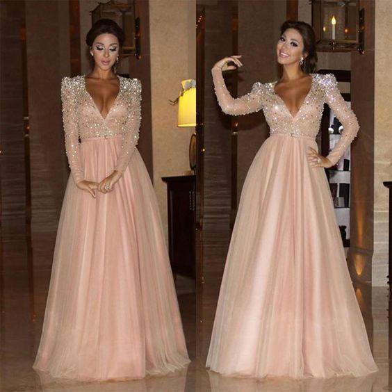 Robe Dubai Elegante Myriam Fares Prom Dresses Long Pink Prom Dresses Evening Dresses