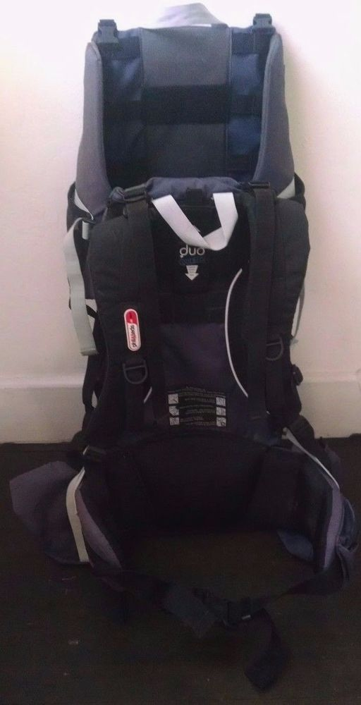 Phil Teds Escape Baby Backpack Pack Gray Black Duo Coolback Some