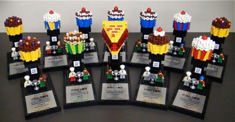 The sweetest trophies EVER ! First lego league, Lego