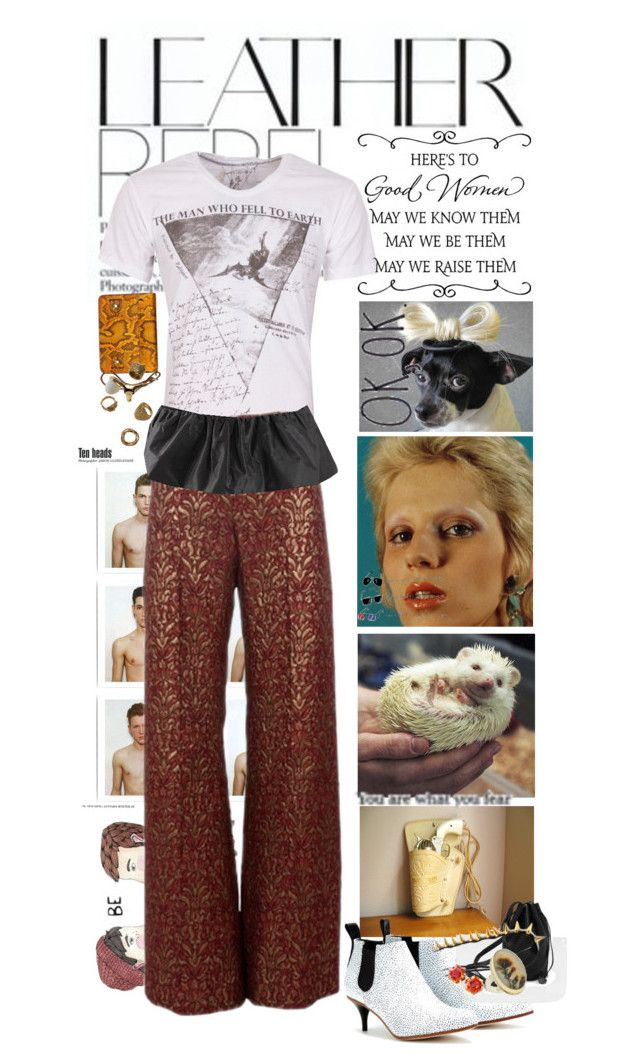 """hearing sirens and groping weird textures in the dark"" by poppeteer ❤ liked on Polyvore featuring Jerdon, BAGGU, Religion Clothing, Alexander McQueen, Acne Studios, Blugirl, Jamie Joseph, WALL and Proenza Schouler"
