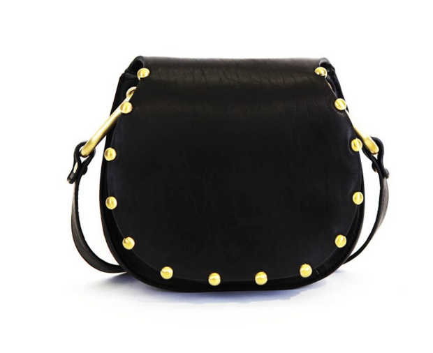 THIS STUDDED BEAUTY IS A SHOWSTOPPER! THE CYNTHIA ROWLEY GOLD STUDDED TABITHA CROSSBODY!