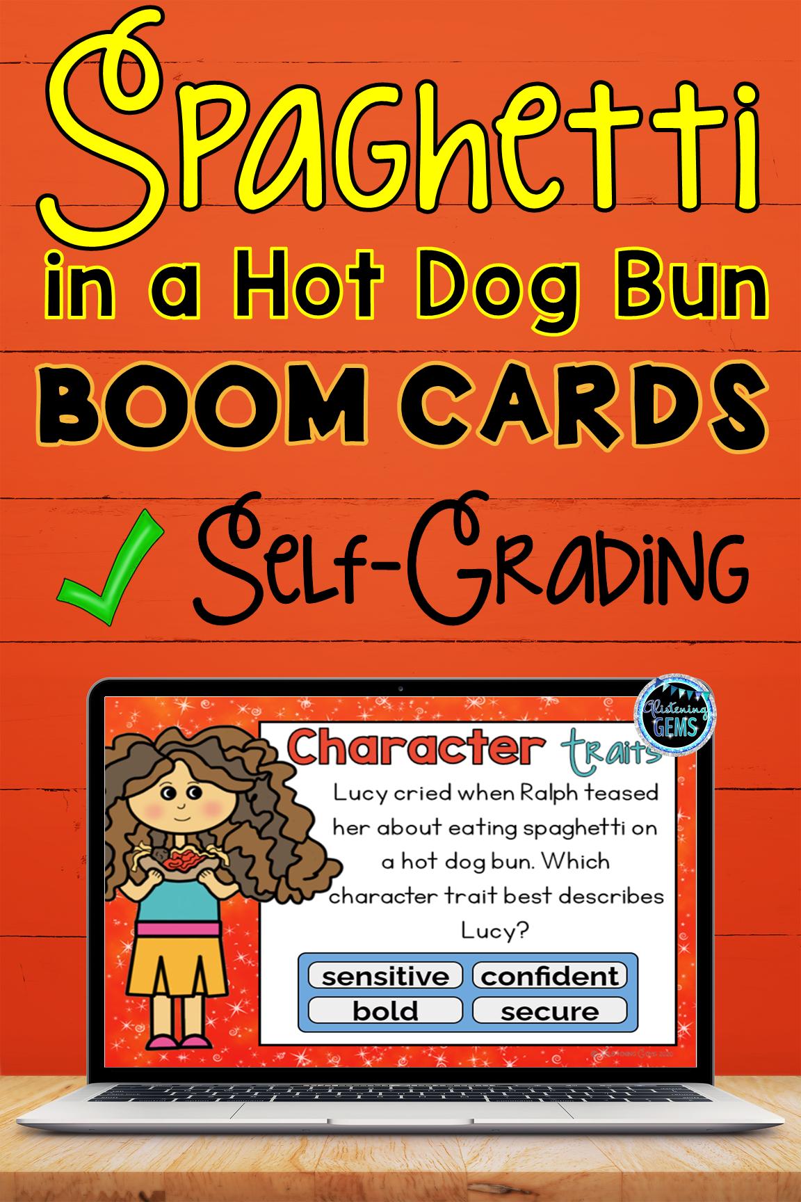 Boom Cards Spaghetti In A Hot Dog Bun Character Traits In