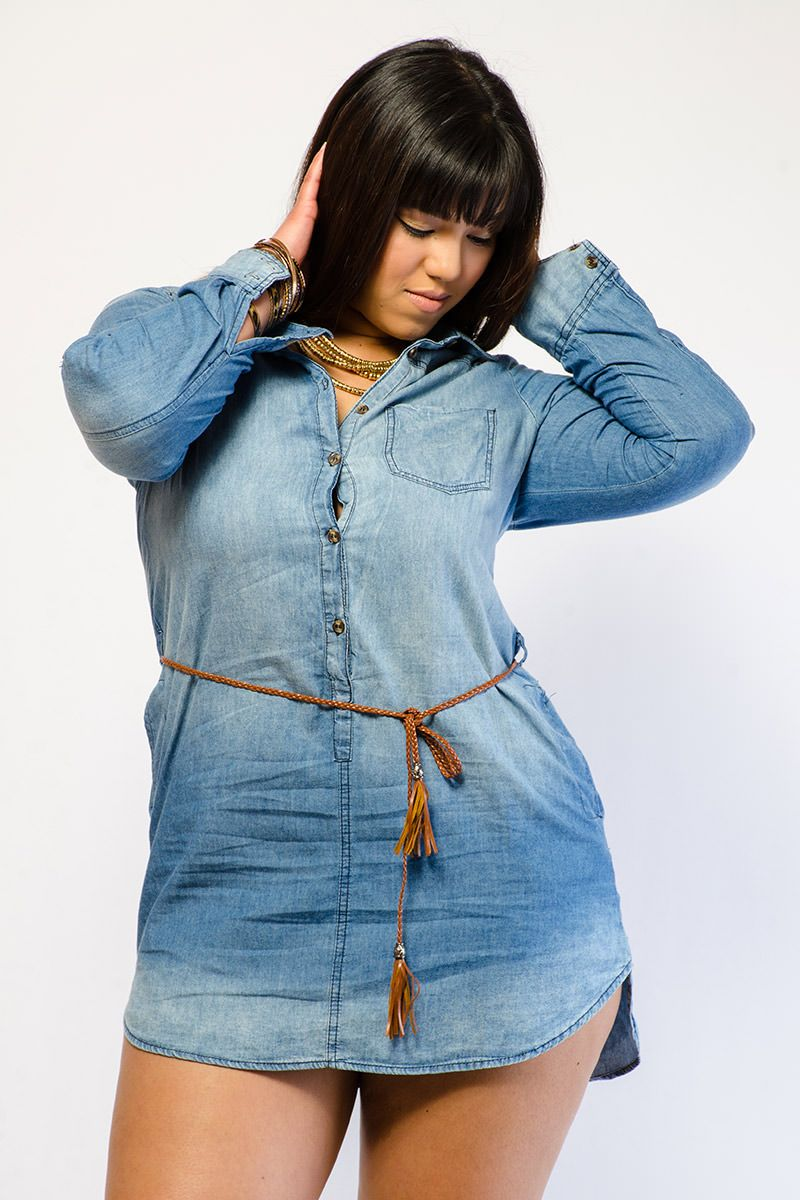 1000  images about (denim) Shirt dresses on Pinterest | Plus size ...