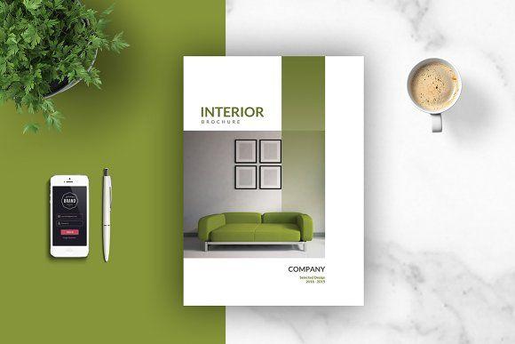 PSD - Interior Brochures \/ Catalogs Interiors, Brochures and Catalog - interior design brochure template