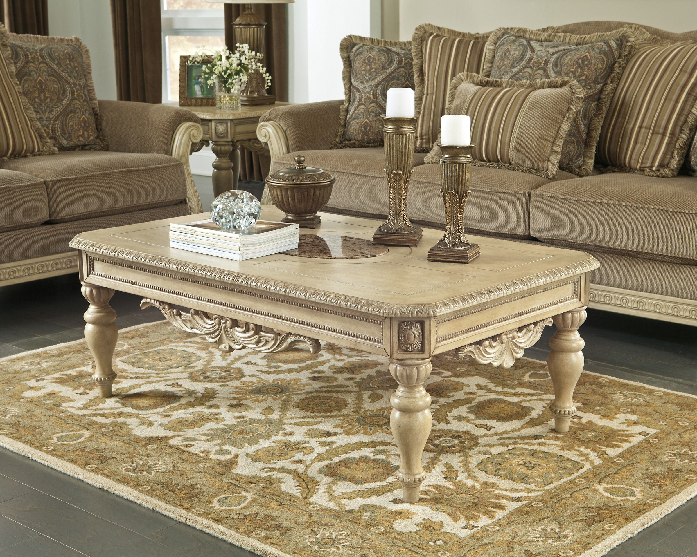 Ashley Ortanique T707 1 Signature Design Rectangular Cocktail Table Coffee Table Living Room Table Sets Living Room Table [ 1920 x 2400 Pixel ]