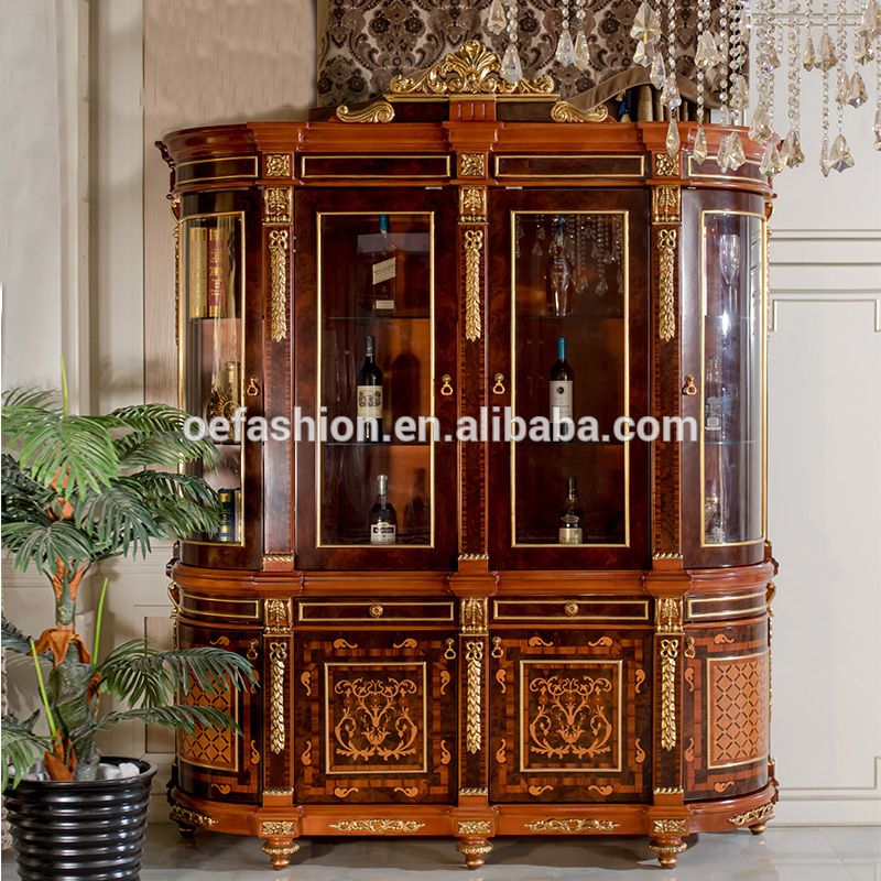 Oe Fashion Classical Baroque Style Design 4 Doors Living Room Wood