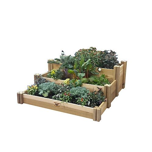 Make A Dynamic Statement With Multilevel Gardening Our Multilevel Raised Beds Offer Complete Contro Raised Garden Beds Rustic Raised Garden Beds Raised Garden