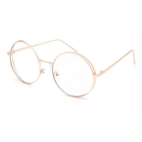 Full Tilt Clear Lens Round Glasses (133.245 IDR) ❤ liked on ...