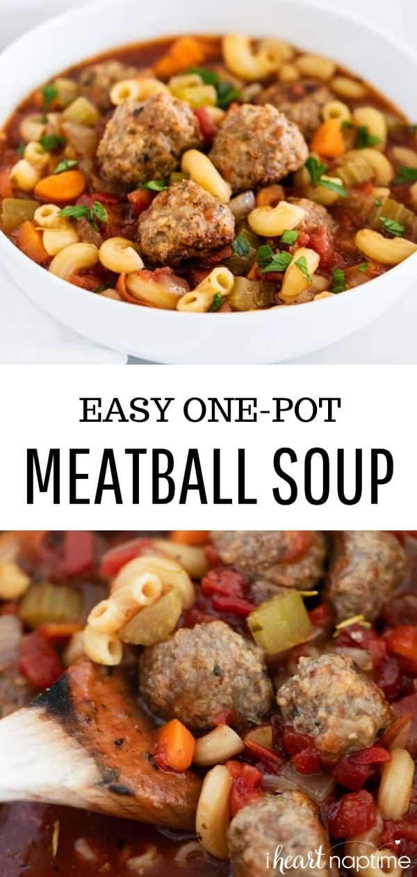 This easy meatball soup recipe comes together in one pot in less than 45 minutes Its super hearty flavorful and sure to be a family favorite soup
