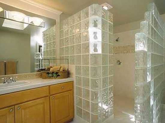glass block wall design ideas adding unique accents to eco homes - Bathroom Designs Using Glass Blocks