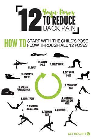 12 yoga poses to alleviate back pain  yoga poses yoga