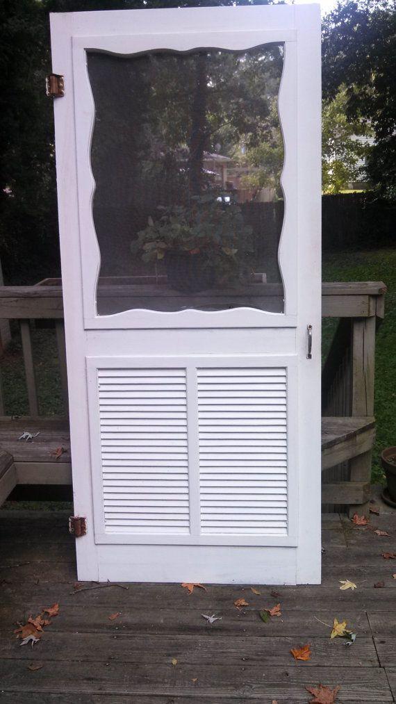 Vintage Antique Wood Screen Door Architectural by WisteriaAttic, $75.00 - Vintage Antique Wood Screen Door Architectural By WisteriaAttic