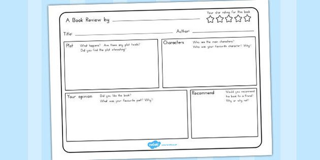 Book Review Writing Template - australia, book, review, write - book review template