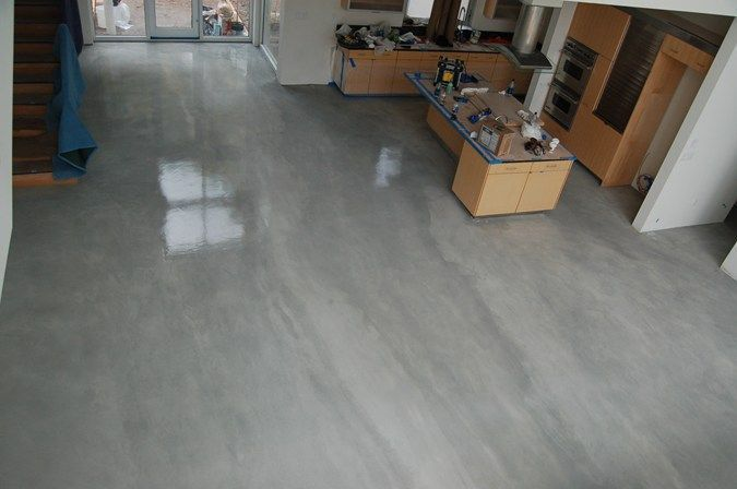 Stained Concrete Floor Grey And Concrete Staining Epoxy