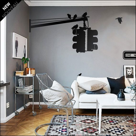 nyc wall decal traffic lights triple hanged lights as in new