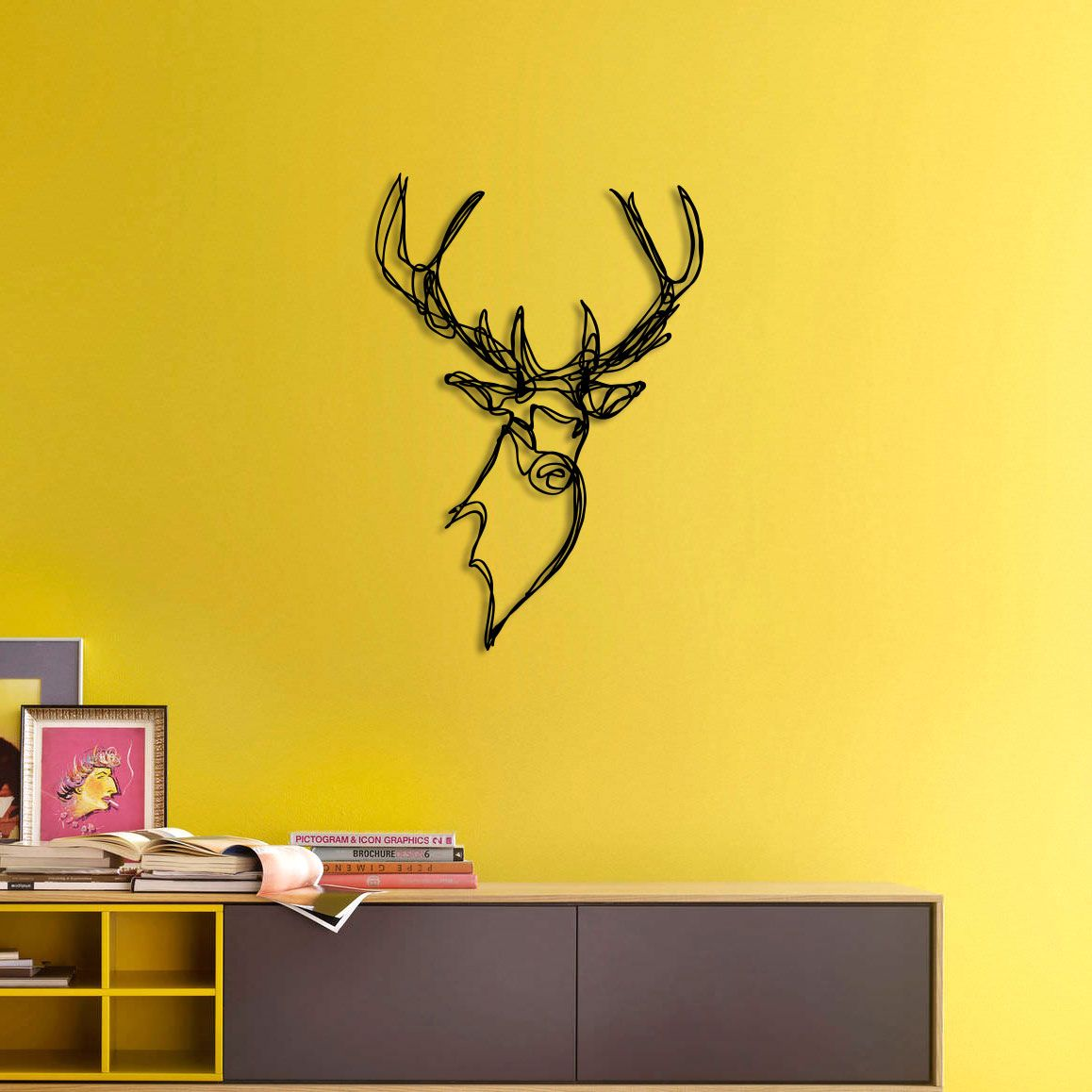 STAG HEAD TROPHY Wall Sign / Tes-Ted X Hu2 Design | Interior design ...