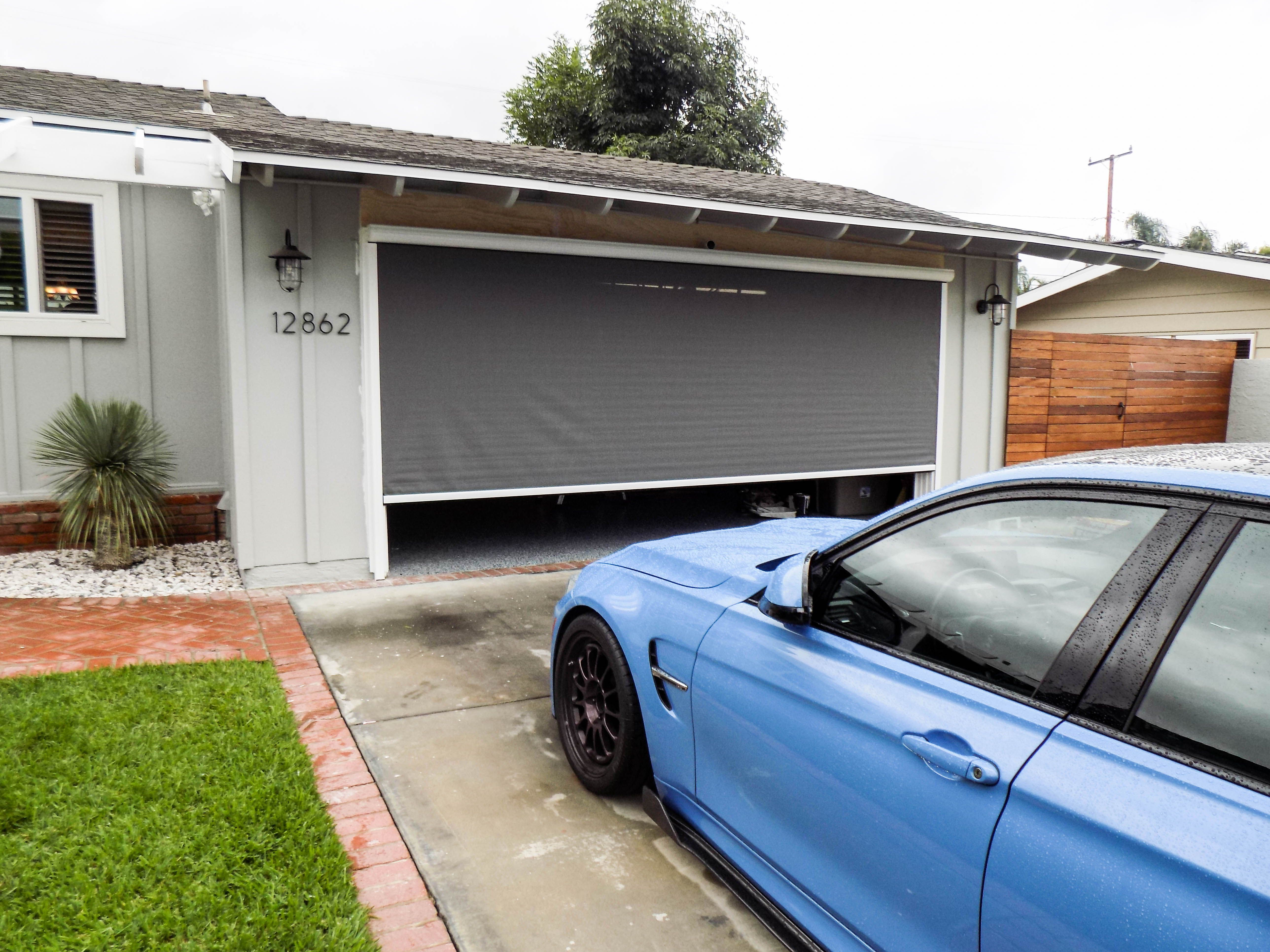 Leave Your Garage Door Open Without Compromising Your Privacy A Custom Built Motorized Power Screen Will He Rancho Palos Verdes Palos Verdes Estates Homeowner