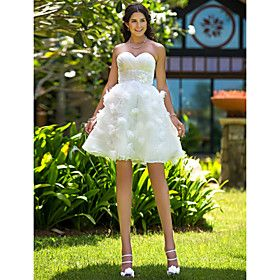 chic a line sweetheart knee length