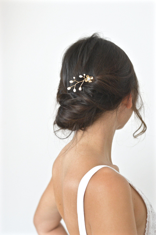Etsy Pic A Cheveux Fleur Bijou De Tete Mariage Dore Pic A Chignon Or Rose Branche Perles Bijou Bijoux Cheveux Mariage Bijoux Cheveux Bijoux De Tete Mariage