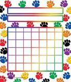 Photo of Teacher Created Resources Colorful Paw Prints Incentive Charts