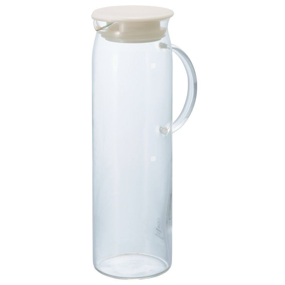 Hario Heatresistant Glass Water Pitcher With Lid 1000ml 4310
