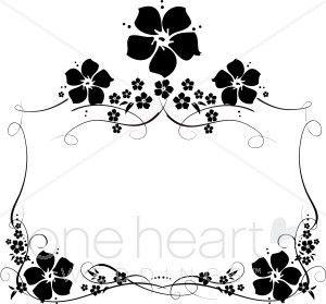 Vintage Flower Outline Wedding Flower Borders Inspiration