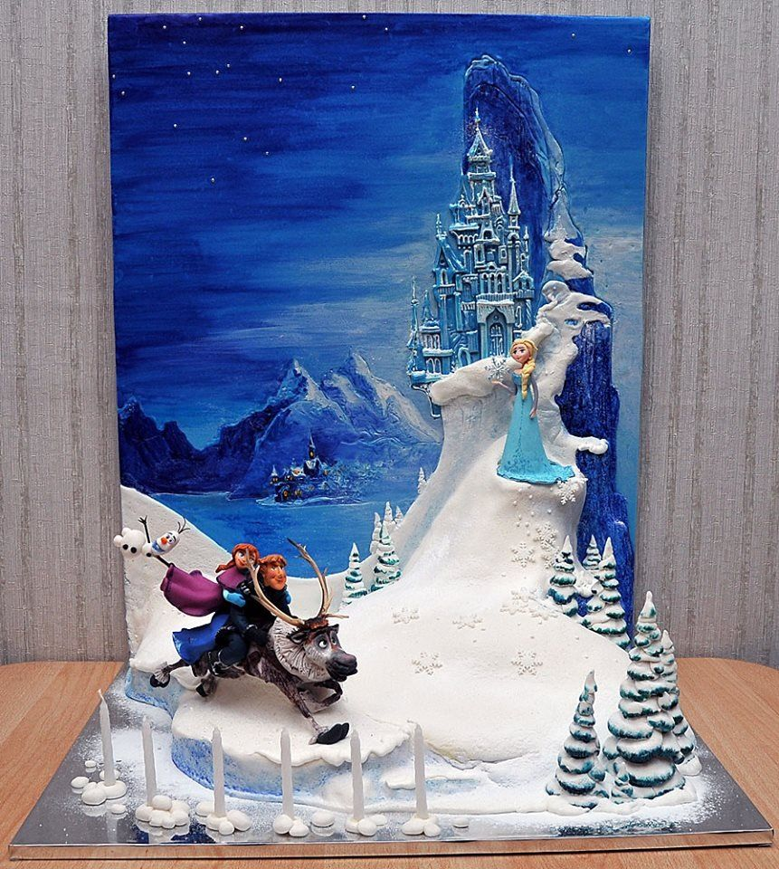 Awesome Frozen cake by art cake.ru