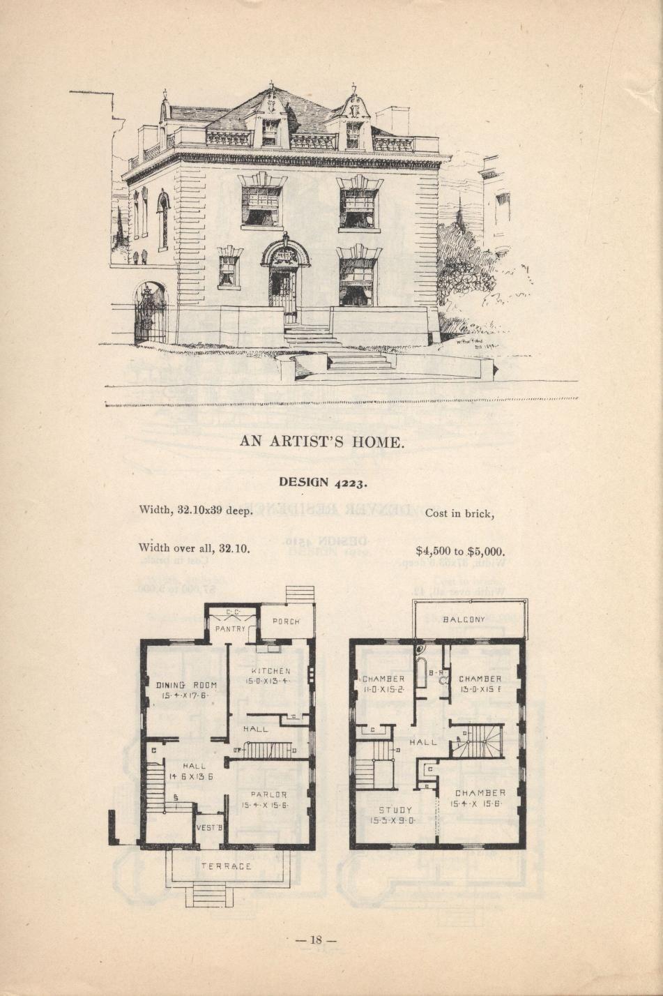 Artistic City Houses No 43 Vintage House Plans Craftsman Floor Plans City House